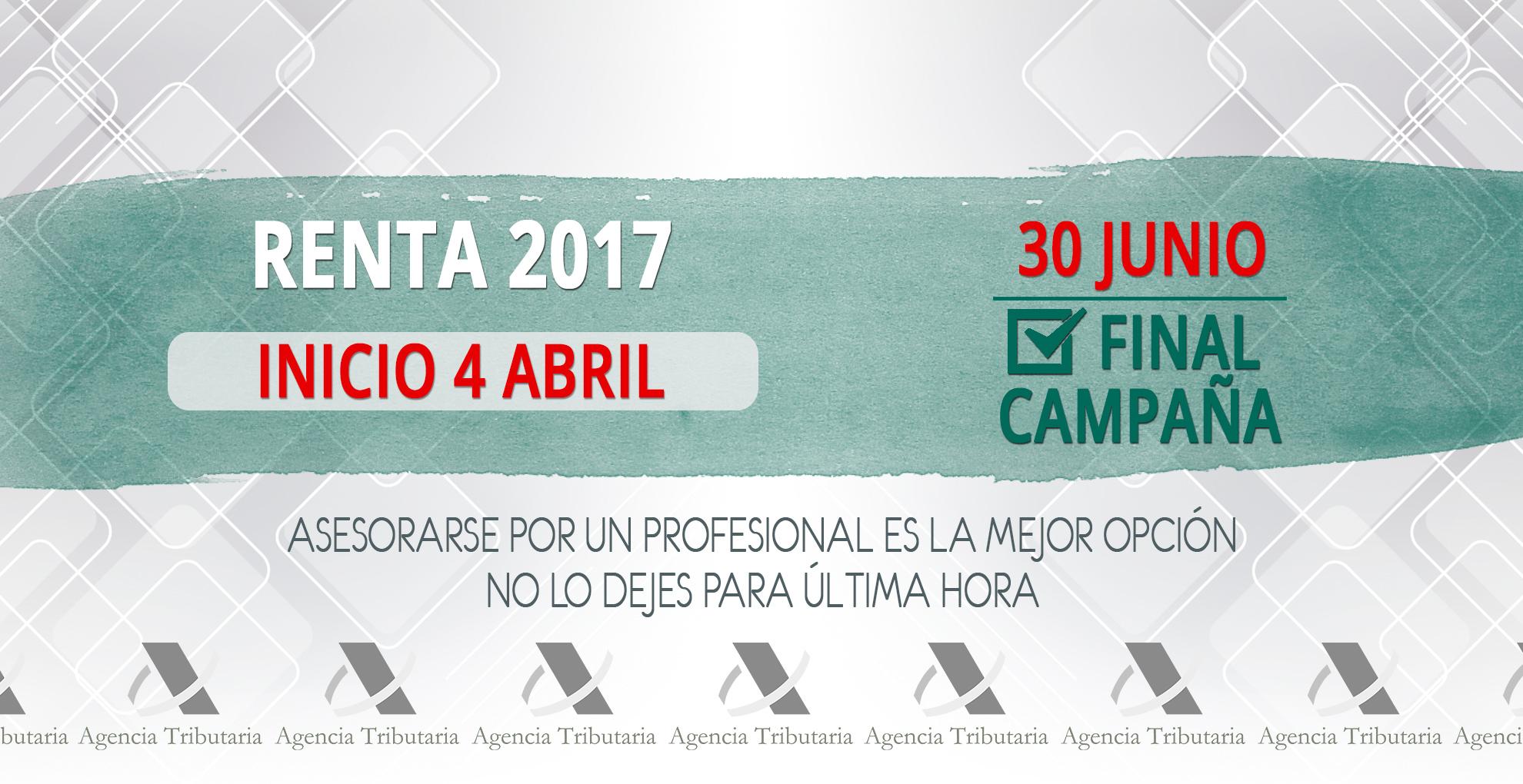 Renta 2017 gestoria bocanegra
