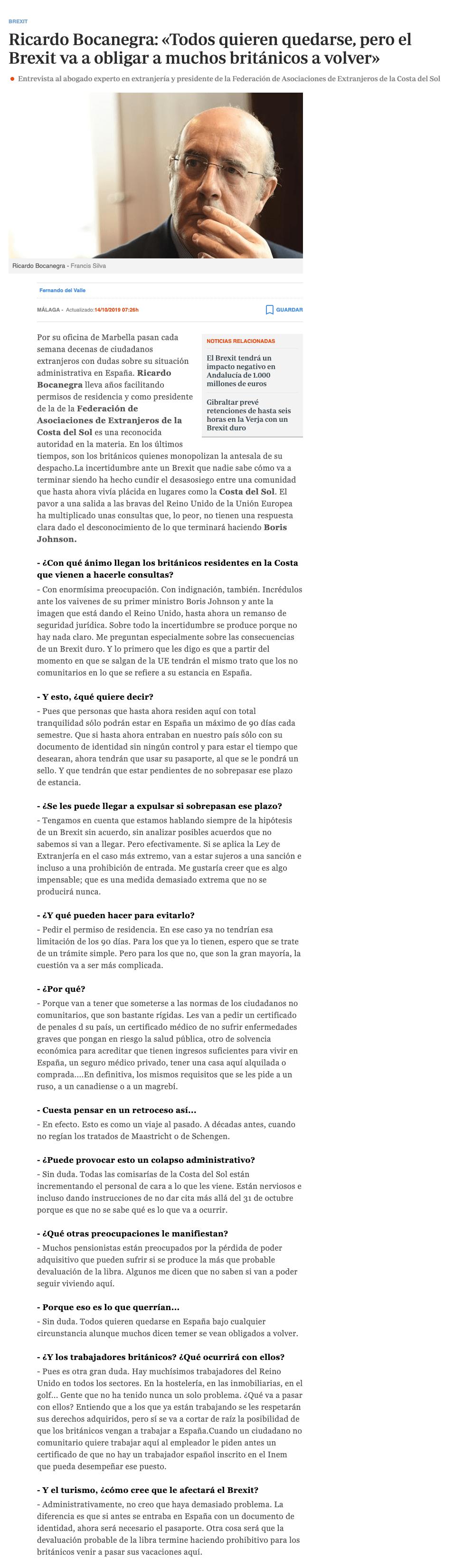 entrevista Brexit Bocanegra